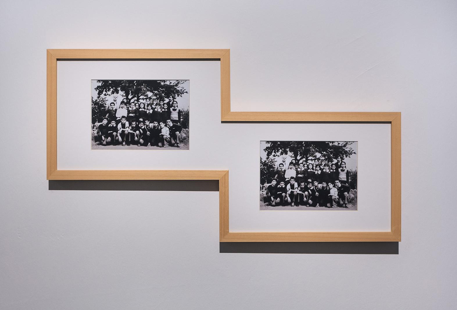 Yapışık, 2015, diptik, 27,5x40,5x74,5x27,5 cm